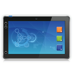 iPad Touchpad Tablet Computer vector image