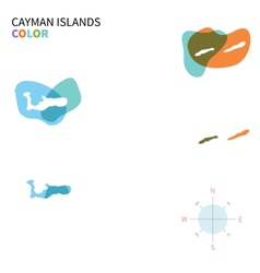 Abstract color map of cayman islands vector