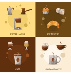 Coffee and confectionery icon set vector