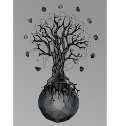 Abstract gothic vector