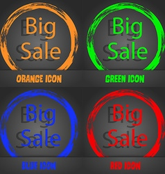 Big sale sign icon special offer symbol vector