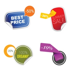 Sticker of summer sale in colorful vector