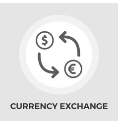 Currency exchange flat icon vector