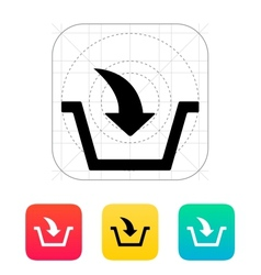 Add to basket icon vector