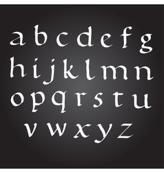 Bace Ink Alphabet vector image