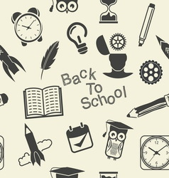 back to school patern2 resize vector image