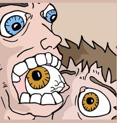 biting eye vector image vector image