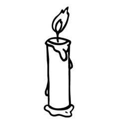 candle 2 vector image