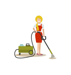 cleaning people in flat style vector image