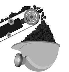 Coal miners belt and helmet vector
