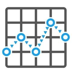 Dotted line grid plot flat symbol vector
