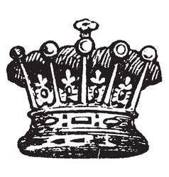 Earl coronet from a tiara in that a coronet vector