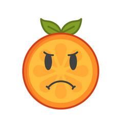 Emoji - angry orange isolated vector