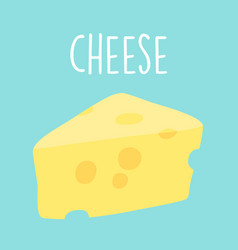 Fresh tasty cheese graphic vector