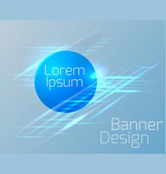geometric circular banner vector image vector image