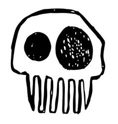 Hand drawn sketch skull Cartoon skull vector image