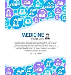 Healthcare and medicine doctors background vector