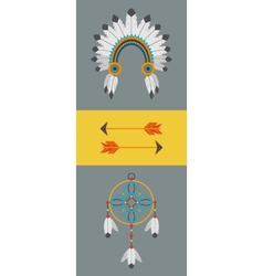 Indian flat vector image vector image