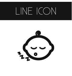 Isolated newborn baby outline kid element vector