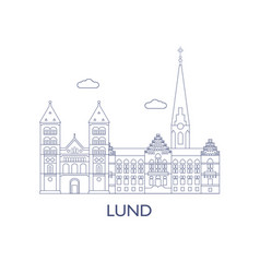lund vector image vector image