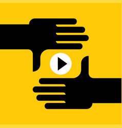 online stream video vector image