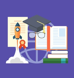 Potential of education concept Flat design stylish vector image vector image