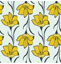 Seamless Flower Buttercup Pattern vector image vector image