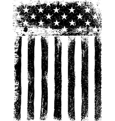 Stars and Stripes Monochrome Photocopy American vector image vector image