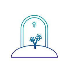 stone with cross rip icon vector image