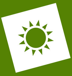 Sun sign white icon obtained vector