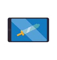 Sword pixelated videogame vector