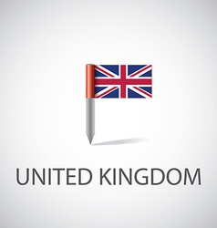 uk flag pin vector image