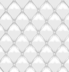 White leather upholstery vector
