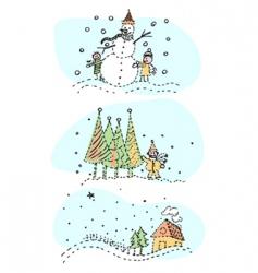 Winter designs vector