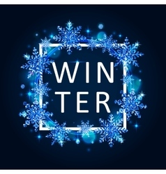 Winter poster template vector