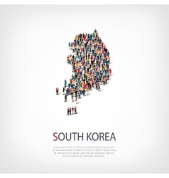 People map country south korea vector