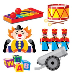 children toys set vector image