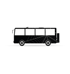 bus icon with spider web vector image