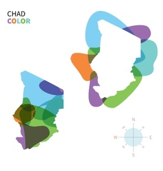 Abstract color map of chad vector