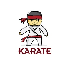 Cartoon karate boy vector