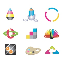 Creative art design icons vector