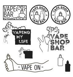 Electronic cigarettes set vector