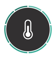 Thermometer computer symbol vector