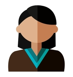 Cartoon avatar woman front view vector
