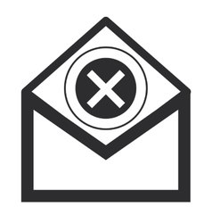 Envelope with x icon vector