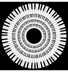 Piano keyboard vector