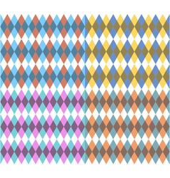 Set of four with rhombus vector image