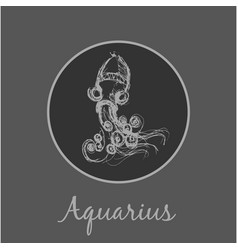 Aquarius astrological zodiac symbol horoscope vector