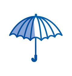 blue shading silhouette of opened umbrella vector image vector image