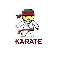 cartoon karate boy vector image